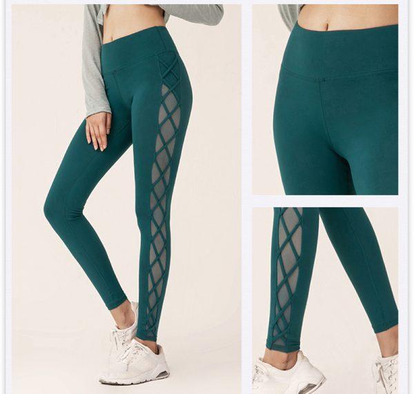 green mesh squat proof leggings 1