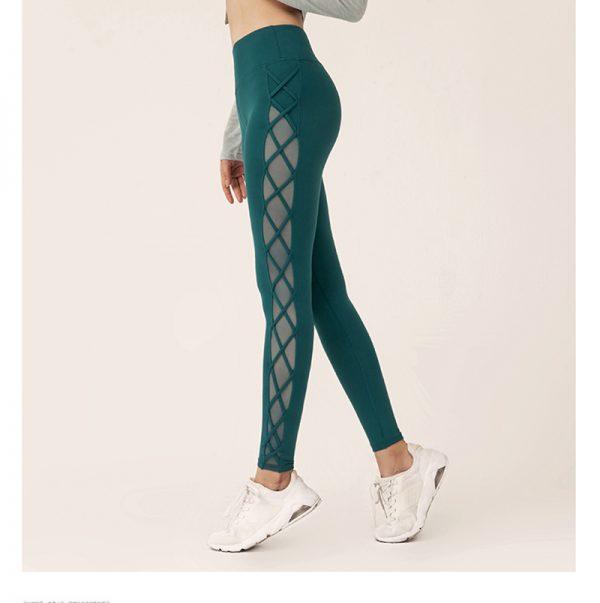 green mesh squat proof leggings