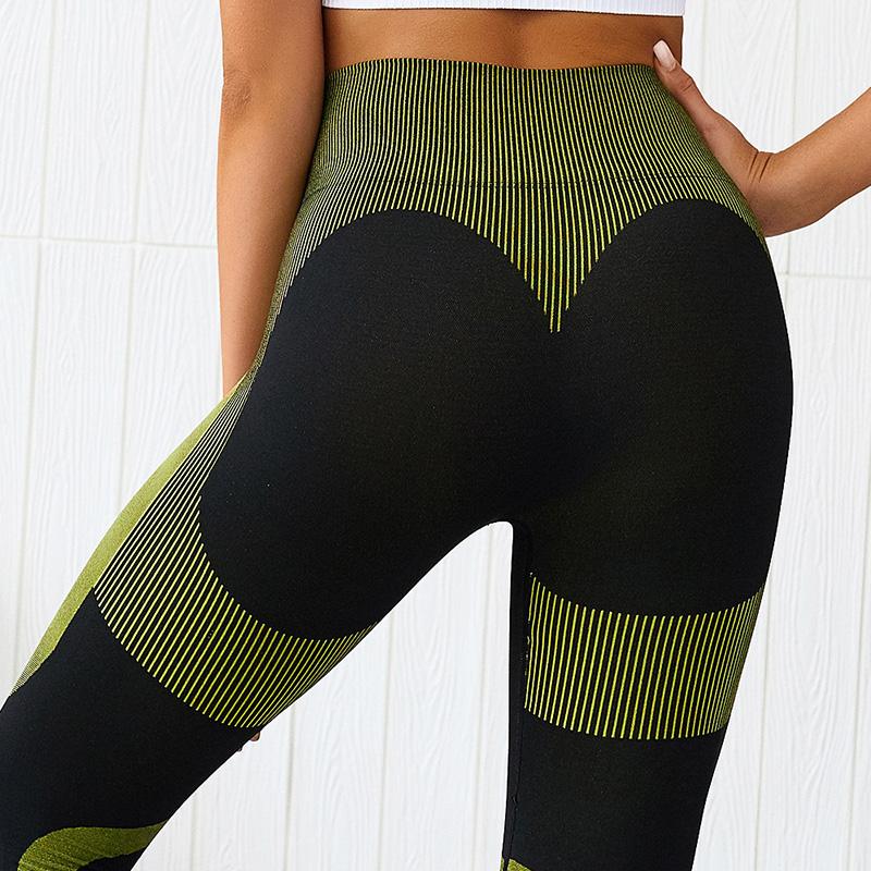 green seamless gym leggings 2