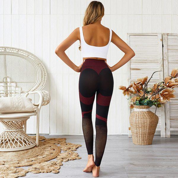 red seamless gym leggings 3