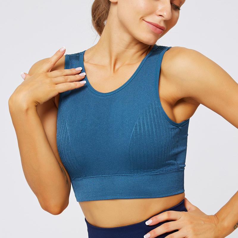 seamless blue gym top 1