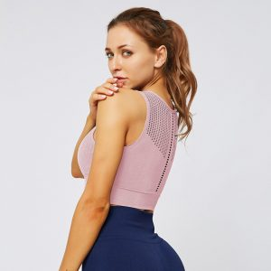 seamless purple gym top