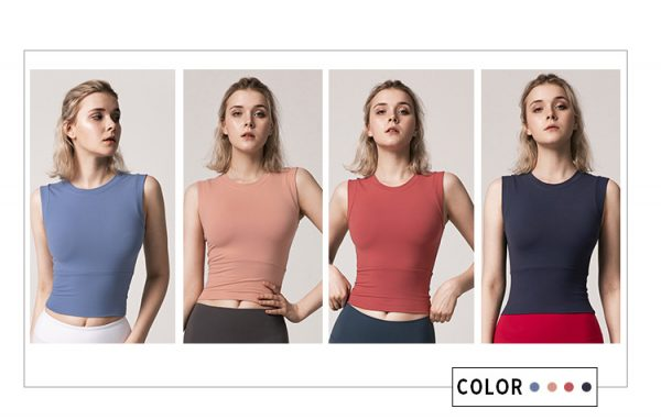 fitted running top all 4 colours