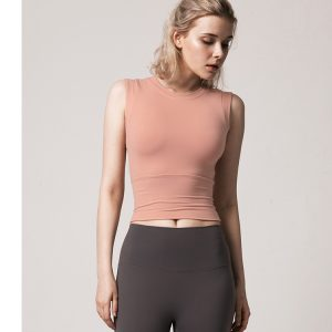 fitted running top pink 1