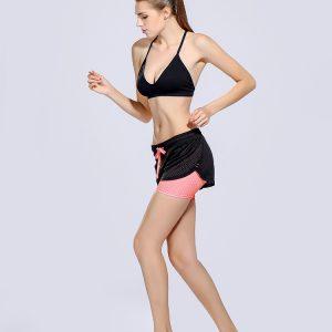 womens pink print shorts