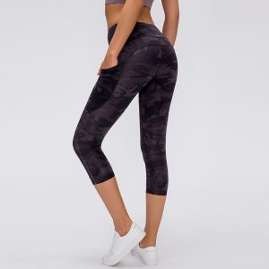 Black camouflage gym pants 1