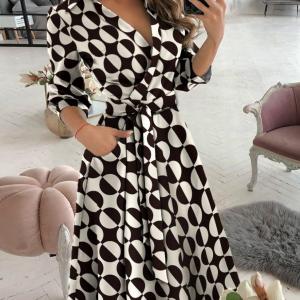 Circles Print Wrap Dress