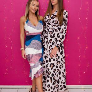 Colourblock Frill Bottom Dress