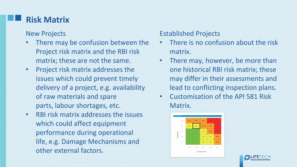 RBI Risk matrix
