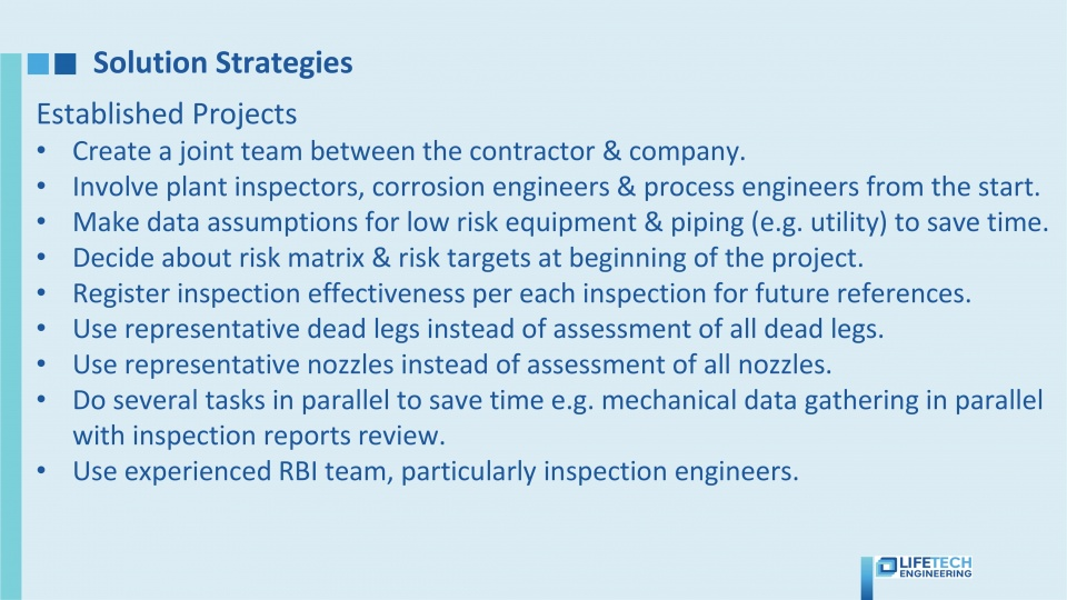 Risk Based Inspection software solution strategies