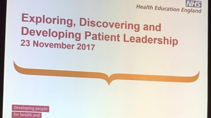 East Of England Patient Leadership Event – 23rd November 2017