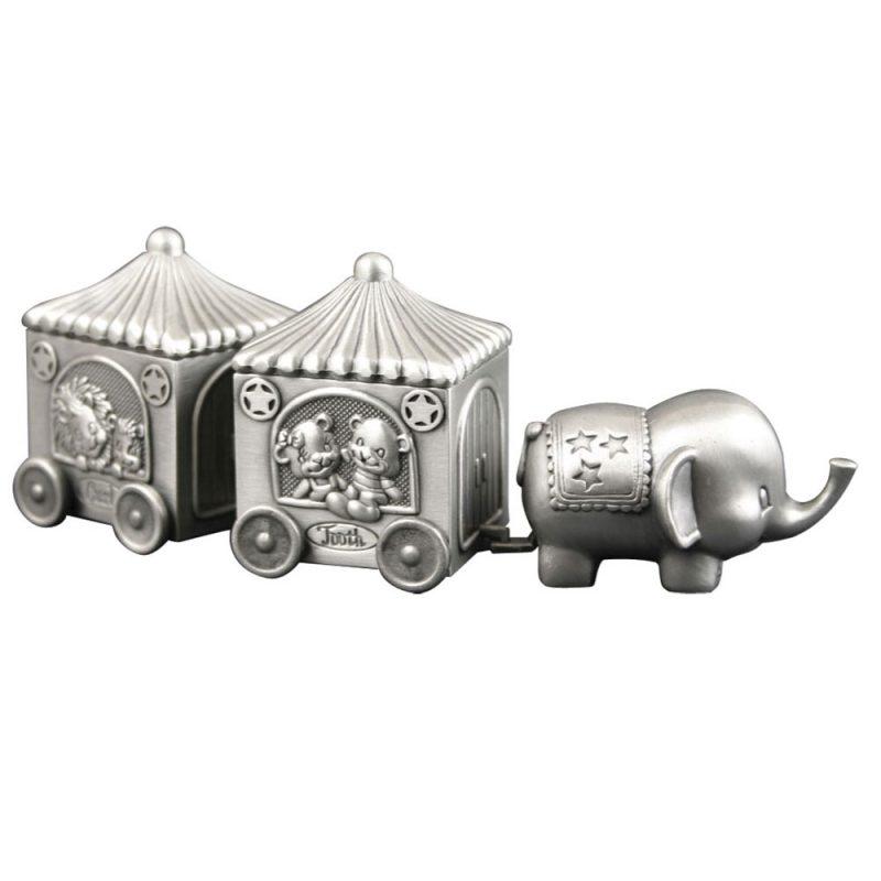 Min første hårlok/tand elefant m. vogn