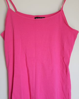 "Rosa singlet i fargen ""Hot Pink"" str. 44 fra London"