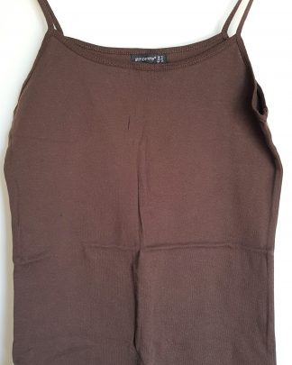 "Brun singlet i fargen ""Chocolate"" str. 44 fra London"