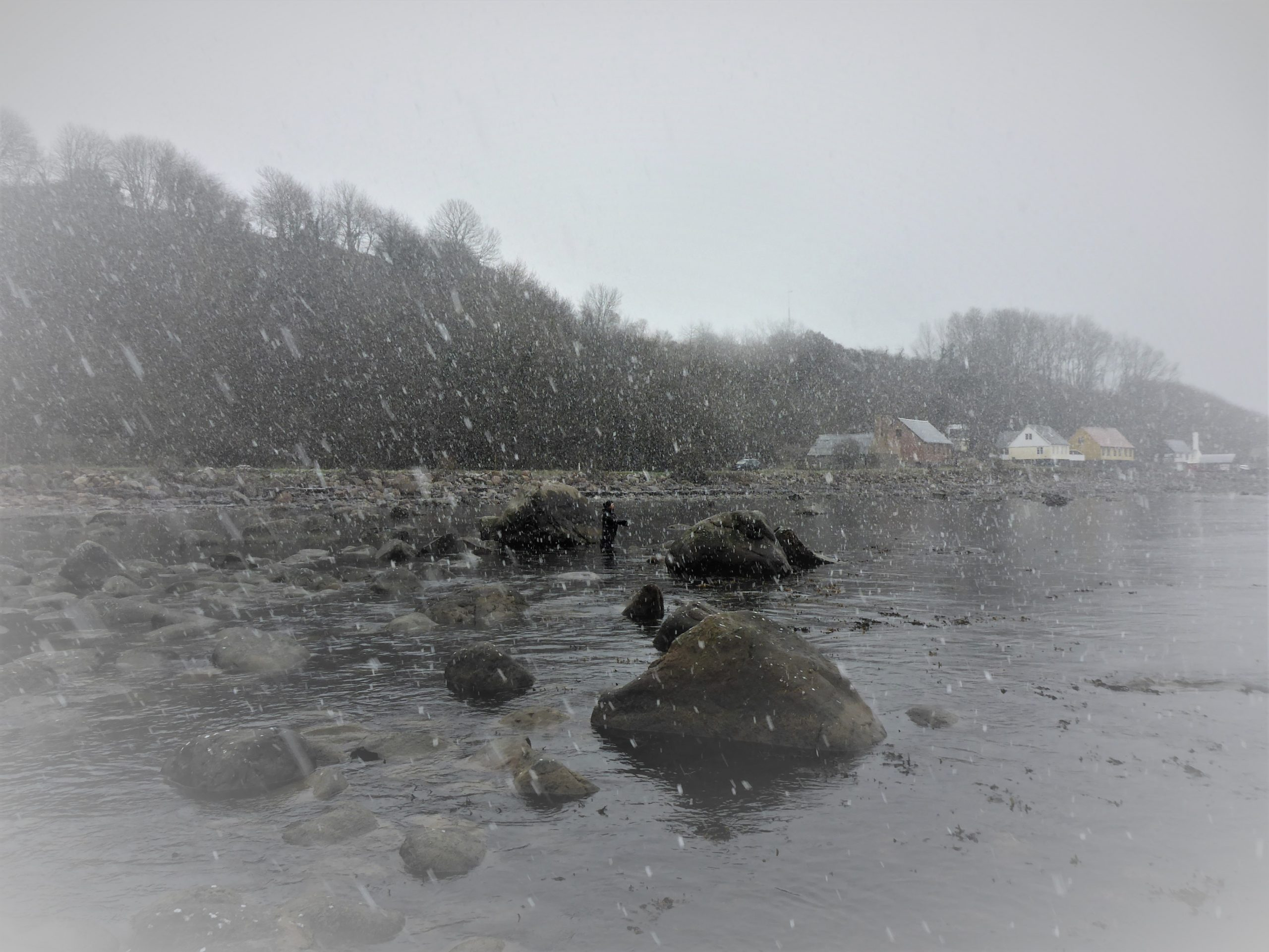 Kystfiskeri om vinteren på Bornholm.