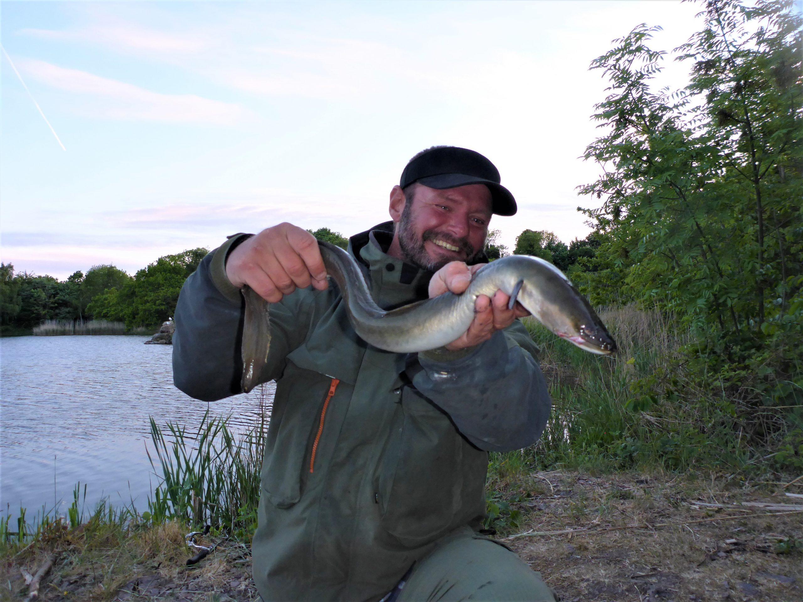 Lystfiskeri efter ål på Bornholm