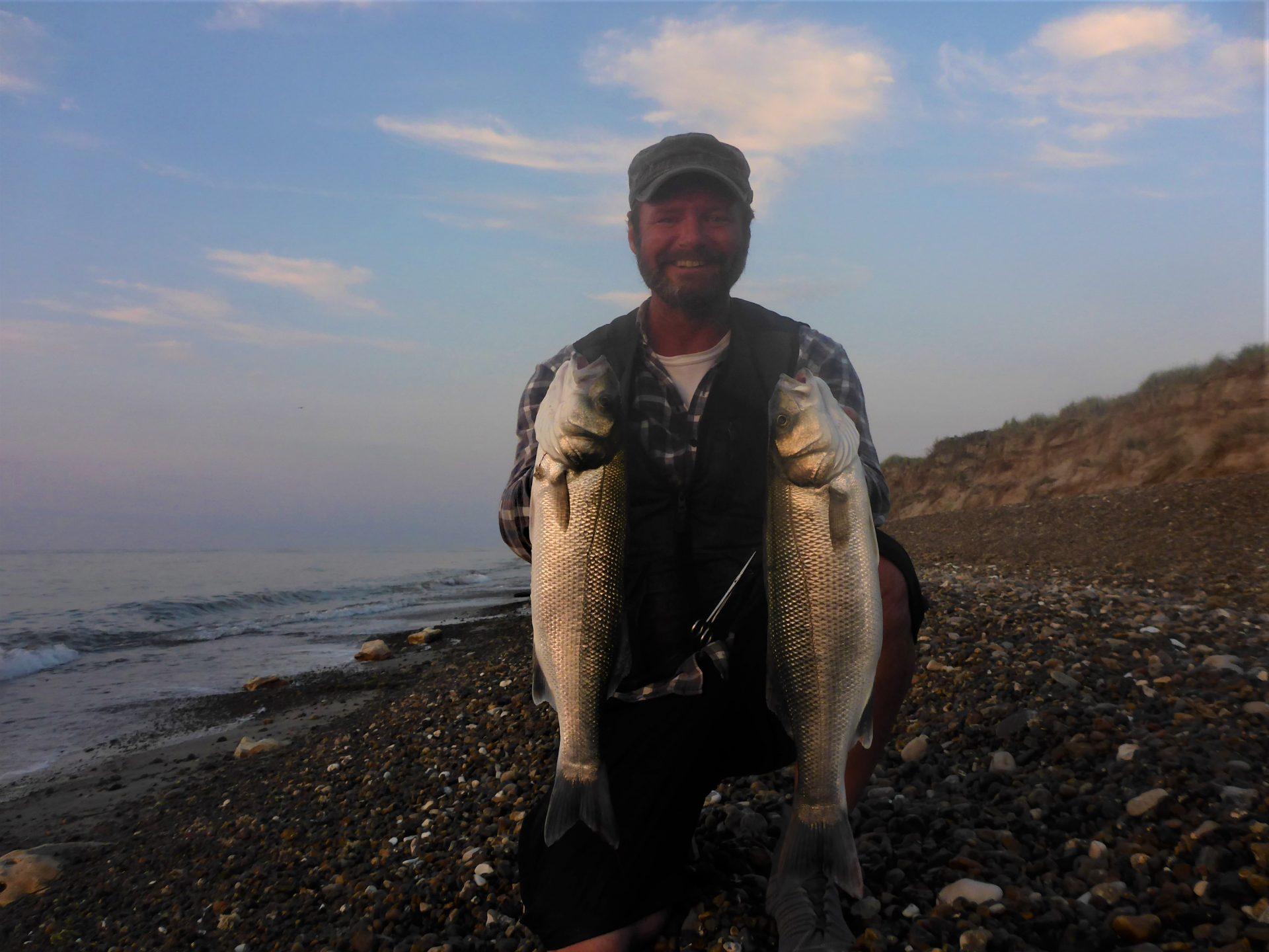 Havbarsfiskeri med popper