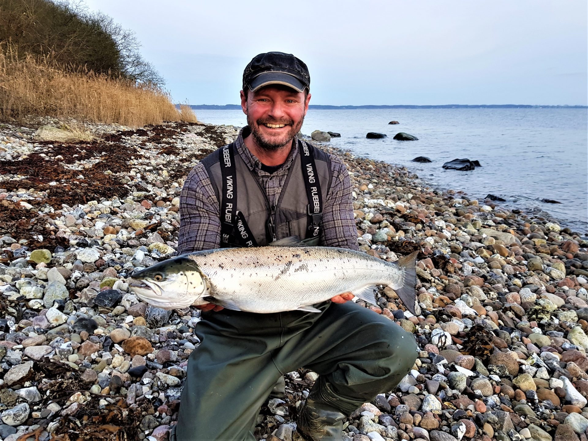 Havørredfiskeri fra øer i Sønderjylland.