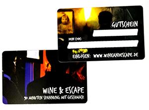 Gutscheinkarte Wine & Escape