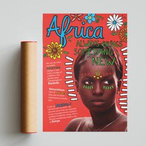 Kleurrijke poster Afrika