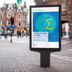 Poster biowiskunde in straatbeeld