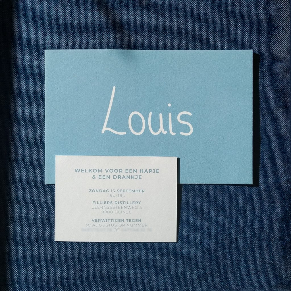 Geboortekaartje Louis