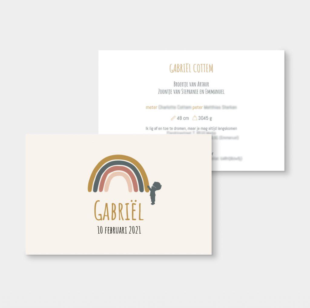 Geboortekaartje Gabriël