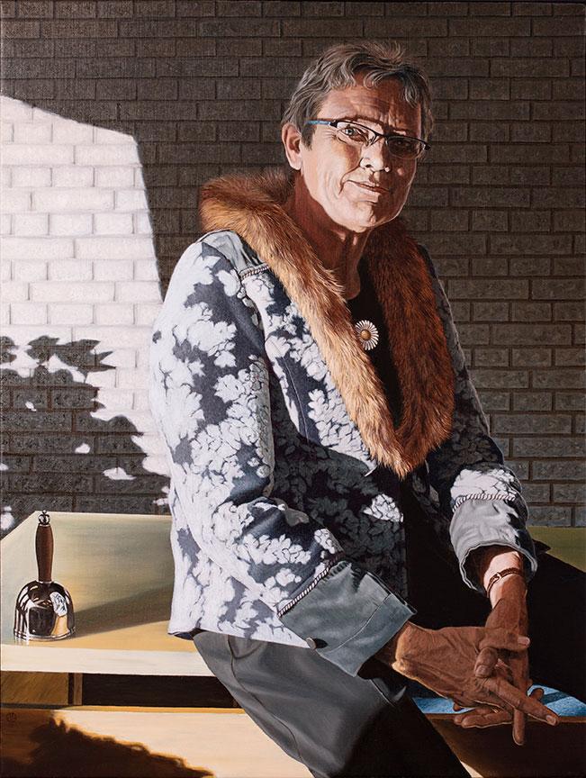 Anna Margrethe Kaalund, Oil On Canvas, 100 x 80 cm