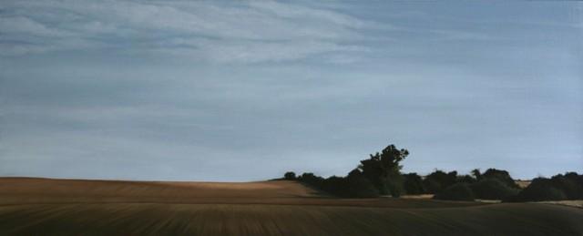Borderline, Oil On Canvas, 75 x 200 cm