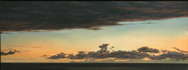 Clouds, Oil On Canvas, 70 x 200 cm