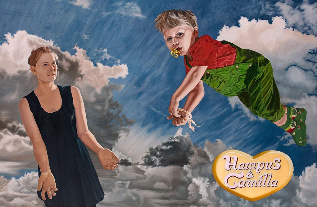 Hampus & Camilla, Oil On Canvas 150 x 200 cm
