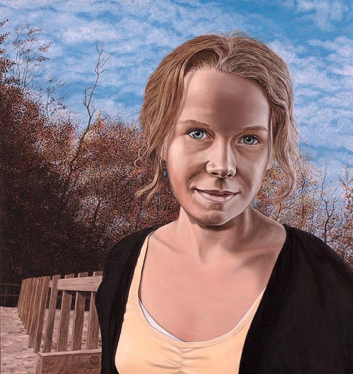 Ida Skadhede, Olie på lærred, 100 x 80 cm