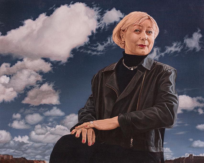 Kirsten Egelund, Oil On Canvas, 80 x 90 cm
