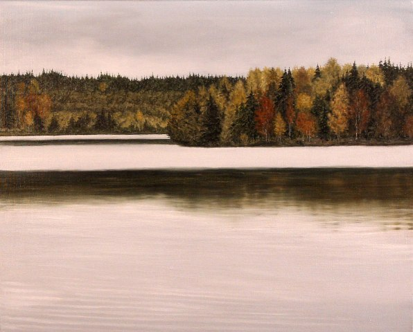 Lake, Oil On Canvas, 60 x 80 cm