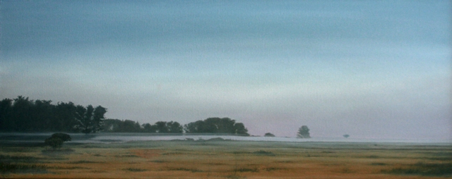 Morning, Oil On Canvas, 75 x 200 cm