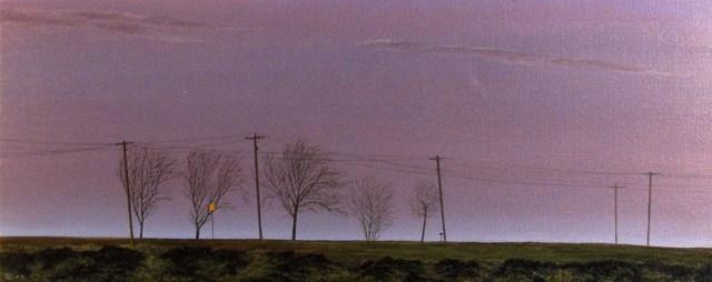 Telephone Poles, Oil On Canvas, 75 x 200 cm