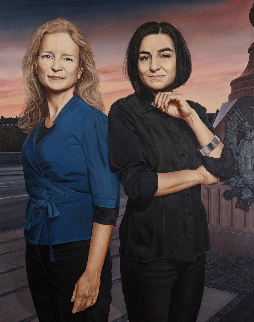 Ninna Thomsen & Ayfer Baykal, Oil On Canvas, 160 x 120 cm