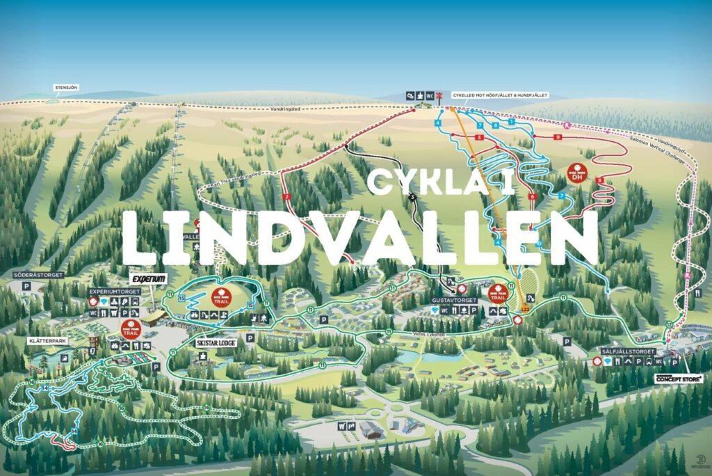 Cykla i Lindvallen