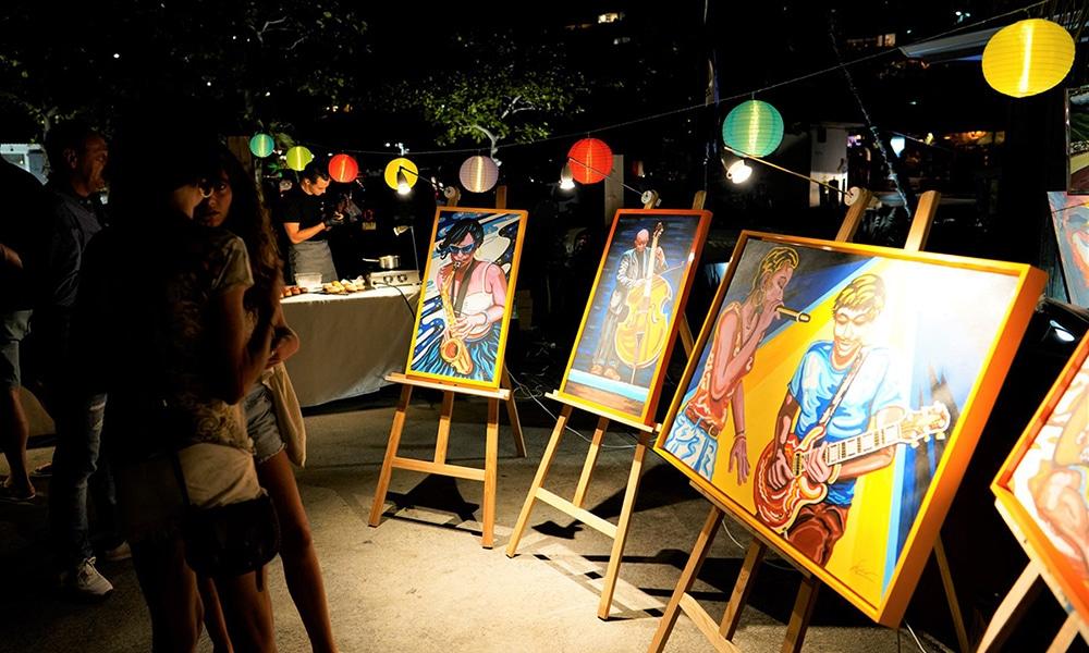 Magazine Chic - Artistes exposant lors d'une Art Party