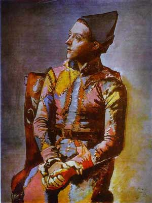 Painting Harlequin Occult Picasso