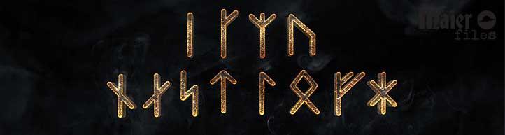 The Albruna Rune Sequence