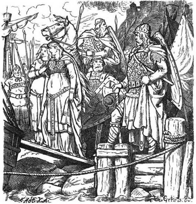 Gudrun imprisoned