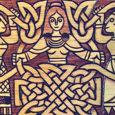 Women's work wood carving