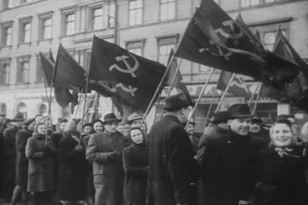 Communist demonsttration Prague