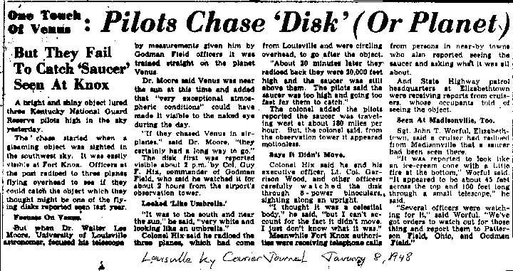 UFO Newspaper article