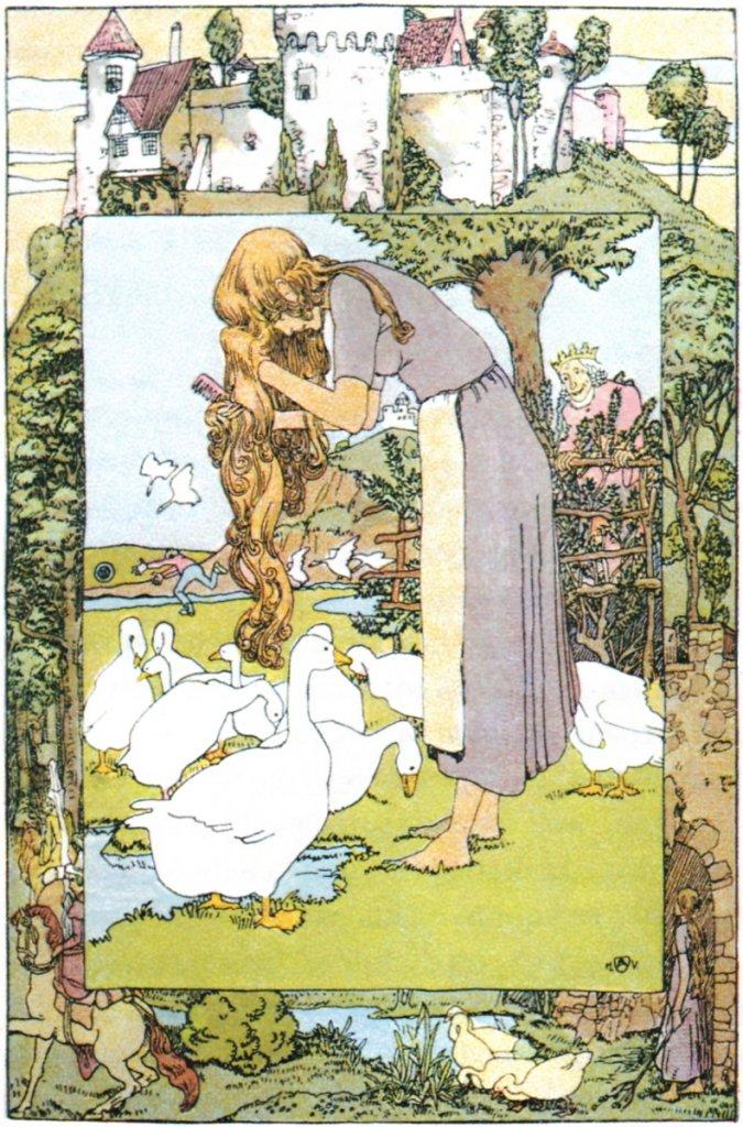 Goose Girl illustration by Vogeler