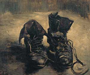 Painting Van Gogh Shoes aletheia world disclosure