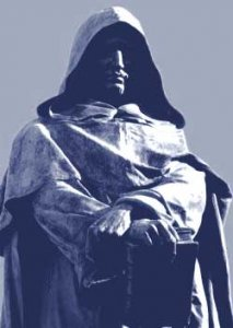 Statue of Giordano Bruno stands in the heart of Rome