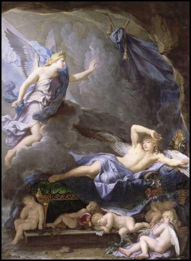 painting Iris and Morpheus by Houasse