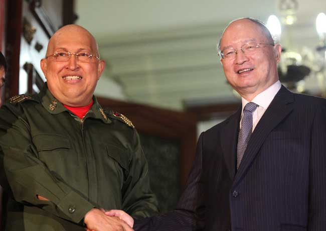Chavez meets top man of CDB Chen Yuan